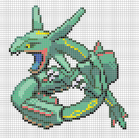 Rayquaza (Small) by Hama-Girl