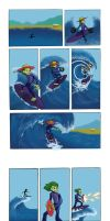 Surfing Bird (?) by Friggo-Glicker