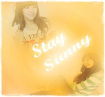 SNSD Sunny Fan Quote Stay Sunny by BlueberriFox