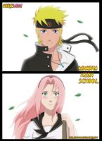 NaruSaku_KHS_first meeting by Milady666