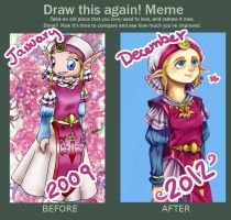 MEME: draw this again - Young princess zelda by Rebe-chan-vk