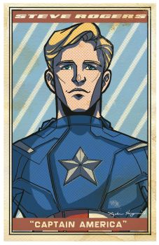 Avengers Poster: Captain America by EmpressFunk