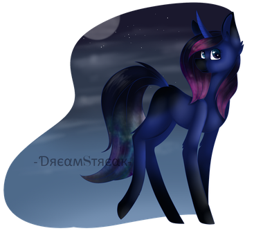 Galaxy Moon by Demisky