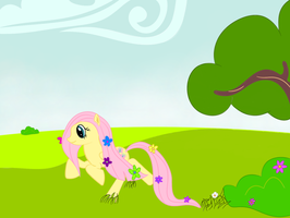 Fluttershy with flower--FlutterDruid by GearHorn