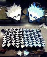 Porcupine keychains by Xiang-shui