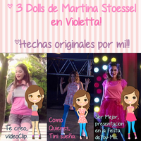+3 Dolls De Martina Stoessel by Moustache-Editions