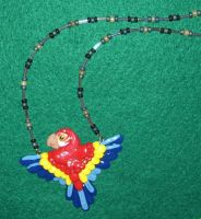 Macaw necklace by ladytech