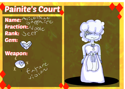 (Painite's Court) Alice Blue Sapphire App by Whaalnut