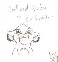 Confused Simba Doodle by WerewolfMichael