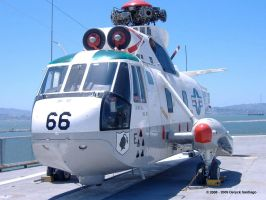 SH-3 Seaking on USS Hornet by dsantiag
