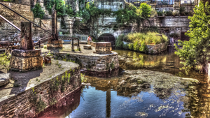 Mill City Ruins lagoon. by simpspin
