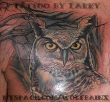 Owl Tattoo by me by wolfbainx
