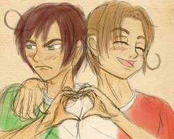 Sketch: The Vargas Brothers by k-o-j-i