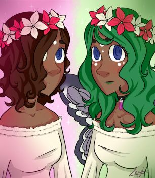 [Request] Mother Nature and Fairy by lewy-ko