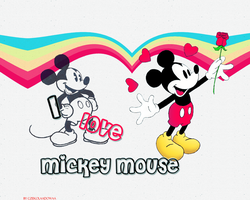 I love Mickey Mouse by Czekolaadowaa