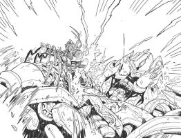ROTF kids book pg 16-17 inks by MarceloMatere
