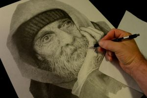 AT WORK on newest drawing by graphitemyers
