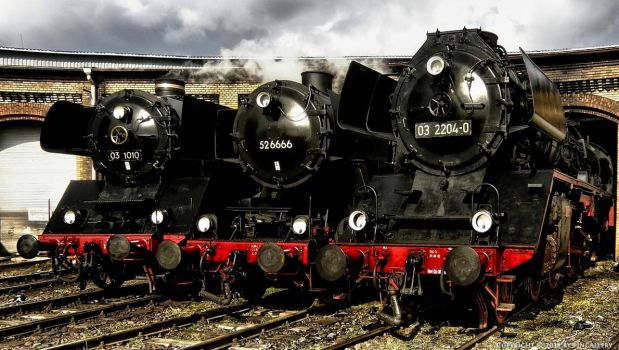 Steam Locomotive Party by pingallery