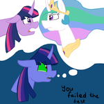 You failed the test. by ChibaDeer
