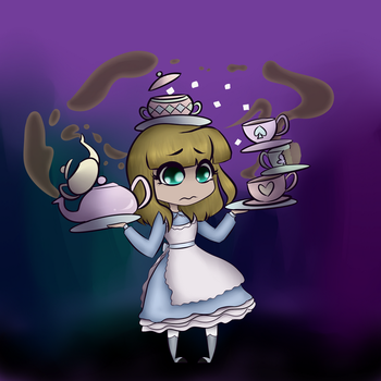 Alice, It's Tea Time! by stoopidcrow