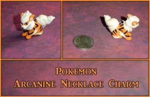 Pokemon - Arcanine Necklace Charm
