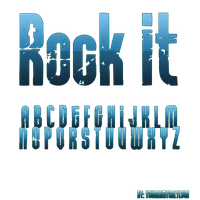 Font Rock It by YouAreMyOnlyLove