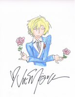 Signed Tamaki Drawing by AmazingGlideh