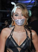 Miley Cyrus duct tape gagged by ikell