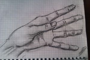 sketches of hands by Jia-Wang