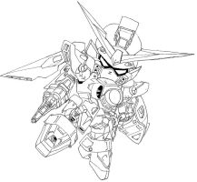 SD wing gundam by domo-san