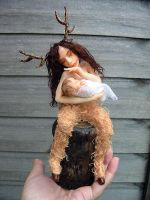 OOAK Satyr and Baby by Fairykist