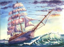 Sailing Ship - commission by doma22