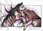 Shewolf fight by NatsumeWolf