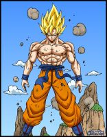 Son goku ssj full power by DBZwarrior