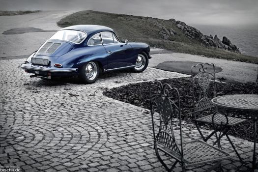 Porsche 356 - coastline by bischii