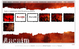 Anonim Band Website: downloads by michalkosecki