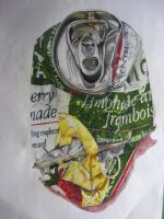 Crushed Can drawing by Niina-Bean