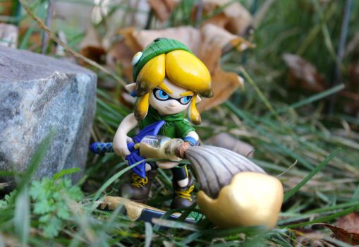 Custom 'Linkling' Amiibo | Outdoor Shot by PixelCollie
