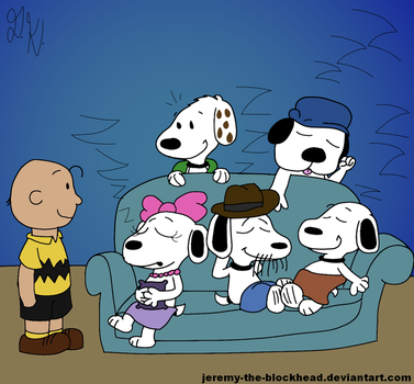 Snoopy's Sleepover Reunion by Jeremy-the-Blockhead