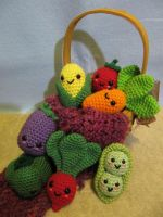 Kawaii Veggie by NerdyKnitterDesigns