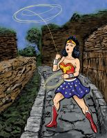 Wonder Woman in colour by rockie-squirrel