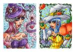 October ACEO Witches by Hatter2theHare