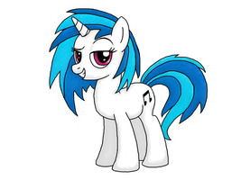 Vinyl Scratch No Glasses by Rambopvp