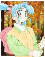 Sasami Sweeping Leaves by RenegadeMasaki