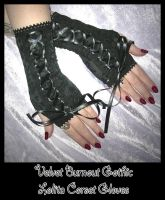 Burnout Lolita Corset Gloves by ZenAndCoffee