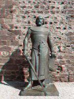 Knight Statue 3-D conversion by MVRamsey