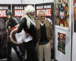 Black Cat with Stan Lee by Inuyomi