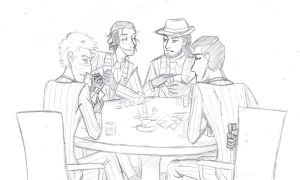 Spies Playing Poker by kytri