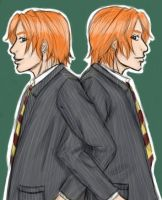 Fred and George by BlanqueKay