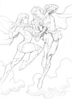 Classic Vs. DCNU: Supergirl by guinnessyde